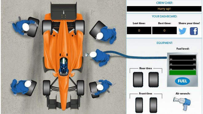 Take the Indy 500 pit-crew challenge