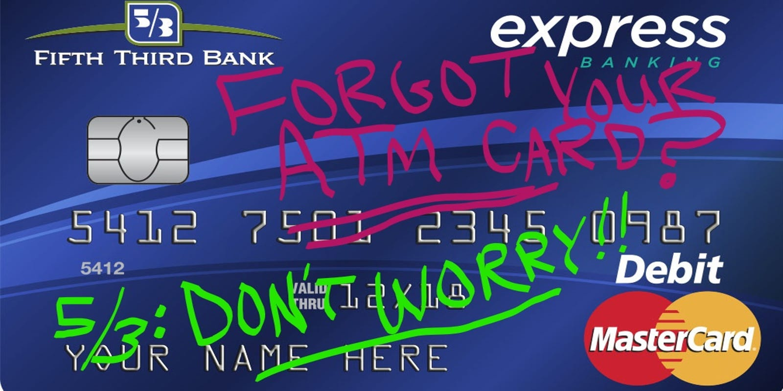 Fifth Third Bank ATM card no longer needed