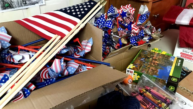Prizes will be handed out to children during the Fourth of July celebration at Luna County Courthouse Park.