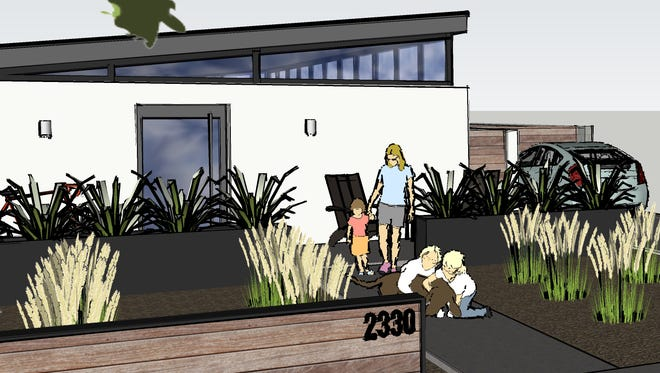A rendering of a modern home proposed for the Coronado Historic District. Neighbors who believe the house does not match the community's character plan to ask the City Council to quash the design.