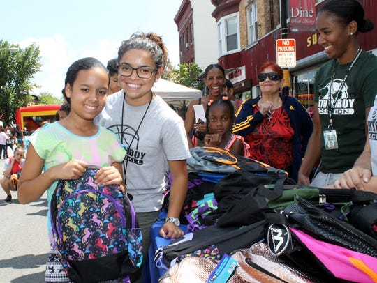 Perth Amboy helped students get ready to go back to