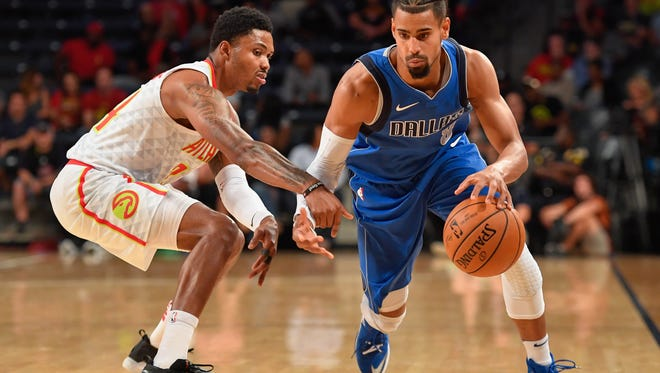 Former CSU star Gian Clavell, shown playing for the Dallas Mavericks in a game early last season, is playing on the Golden State Warriors Summer League team. The Warriors will face the Kings  at 9 p,m. Tuesday in a game televised by the NBA Network.