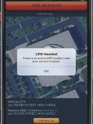 A screenshot of the PulsePoint app.