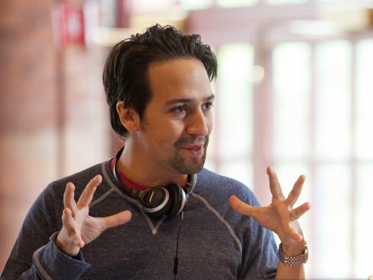 "Lin-Manuel Miranda works on ""The Hamilton Mixtape"""