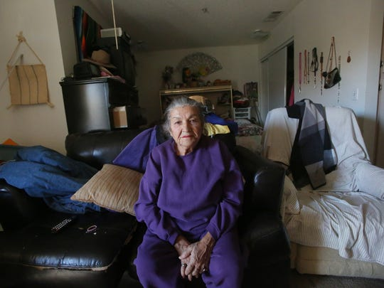 Virginia Zazueta Franco, 79, worked in the fields from the time she was a child. Today, she often spends days lonely in her apartment.