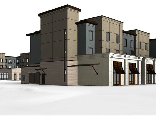 Artist's rendering of the  proposed Staybridge Suites on Lincoln Avenue.