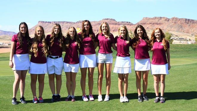 Desert Hills' Katie Perkins (center) looks to win her third individual title and help bring home the Thunder's sixth straight team title.