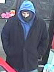 Des Moines Police are searching for this robbery suspect.