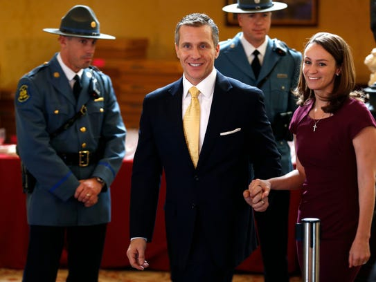 Gov. Eric Greitens on the day he was inaugurated as Missouri's governor.