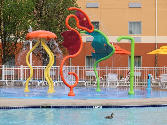 Among the offerings at Cedar Point's recently renovated Express Hotel are an all-new splash pad and courtyard for guests.