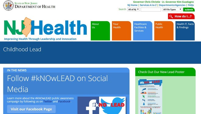 The New Jersey Department of Health has launched the #kNOwLEAD public education campaign, including a website.
