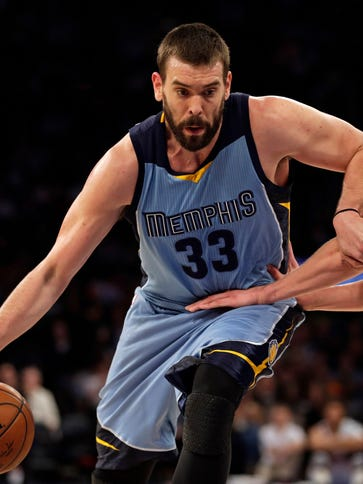 Marc Gasol could be out the remainder of the season