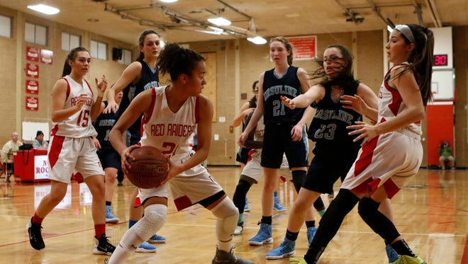 Ursiline defeats North Rockland 54-45 in girls varsity basketball action at North Rockland High School in Thiells on Friday, December 9, 2016.