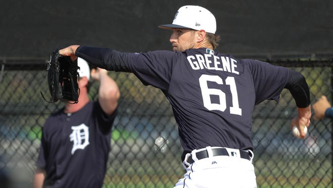 Tigers pitcher Shane Greene completed eight of nine save opportunities in August and September of last season.