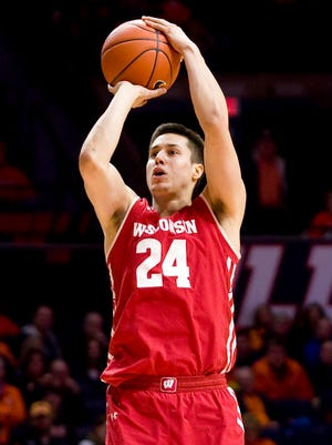 Bronson Koenig is shooting just 26.5% from the field, including 25% from three-point range, during the Badgers' three-game shooting slump.
