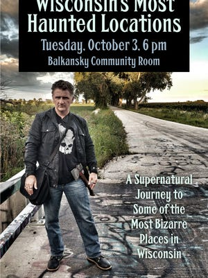 Paranormal author Chad Lewis appears at Manitowoc Public Library at 6 p.m. on Oct. 3.