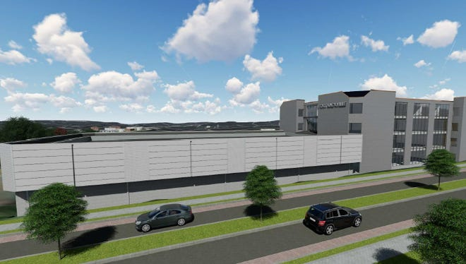 """A rendering shows """"The Fort,"""" a Tier 3 data center planned by SH Data Technologies."""