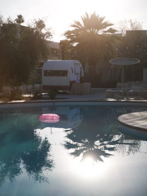 The Ace Hotel & Swim Club, a converted Westward Ho, has two pools with vintage travel trailers filled with clean towels for swimmers. Kathy Kieliszewski/Detroit Free Press