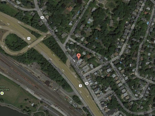 Site of fatal motorcycle accident at  87 N. Riverside Ave. in Croton-on-Hudson.
