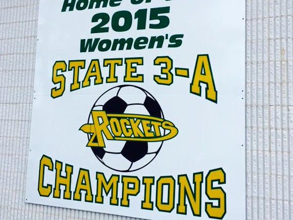 Reynolds hung this state-championship sign on Tuesday.