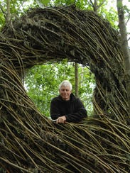 North Carolina-based sculptor Patrick Dougherty with