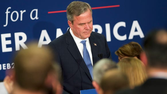 Jeb Bush announces the suspension of his presidential