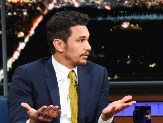 James Franco appeared on 'The Late Show With Stephen