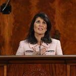 South Carolina Governor Nikki Haley delivers her sixth State of the State address to members of the South Carolina legislative body. In memory of slain state Sen. Clementa Pinckney, she asked state lawmakers to work together for South Carolina.