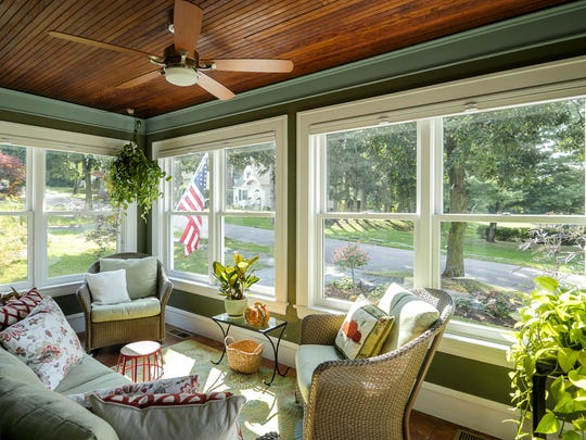 Sun porch at 14 Gove Court, owned by Marilyn Richardson.