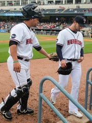Anibal Sanchez, right, is pulled from the game after