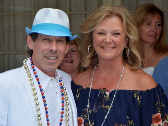 Krewe Justinian Captain XXIV and hostess Caddo Dist.