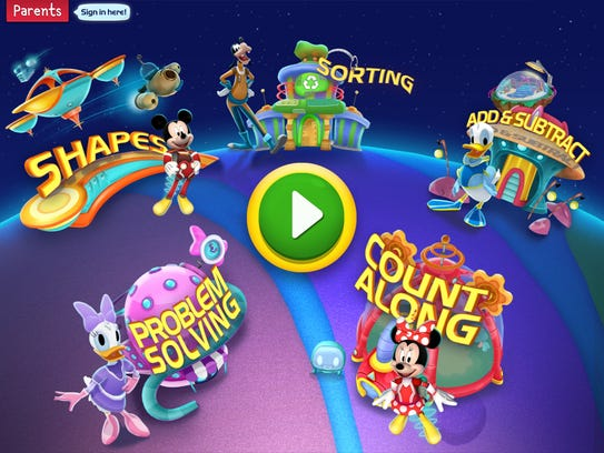 Kids join Mickey and friends in outer space to practice