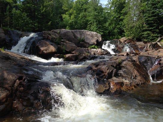 Yellow Dog Falls in Michigan's Upper Peninsula.