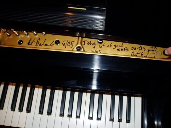 Burt Bacharach's piano, purchased by Dan Yessian in