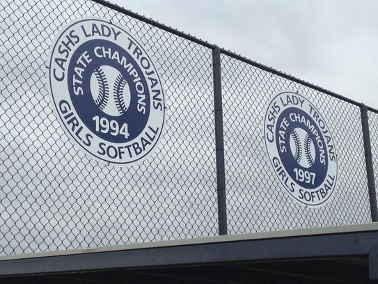 Chambersburg unveiled new signs at its softball complex
