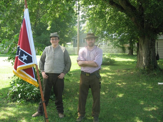 Civil War reenactors put the heritage in The Stewart