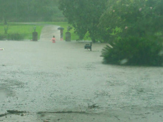 Aron Drive is under water.