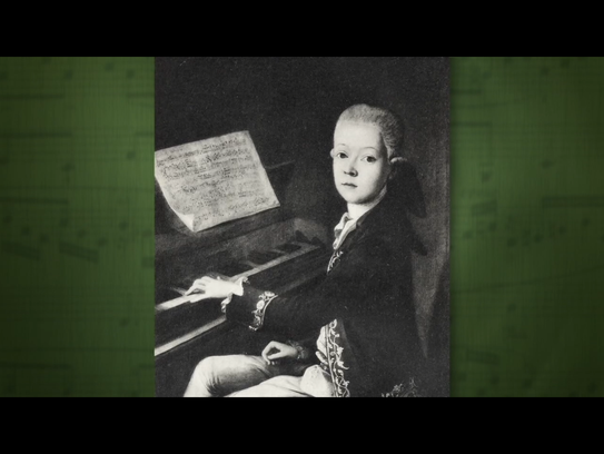 A depiction of the young Mozart in The Great Courses'