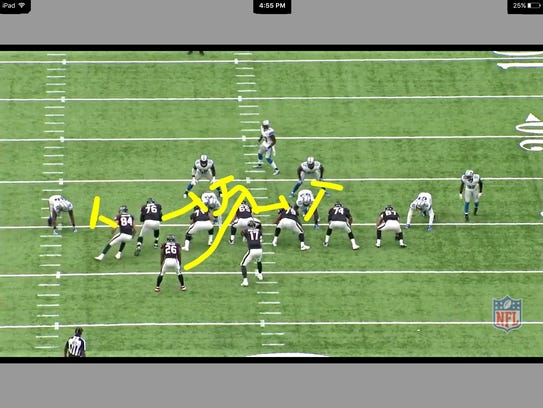 31 yard line for the texans photo frame grab from nfl game pass