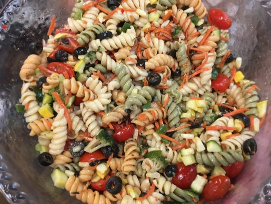 Homemade pasta salad is one of many popular creations