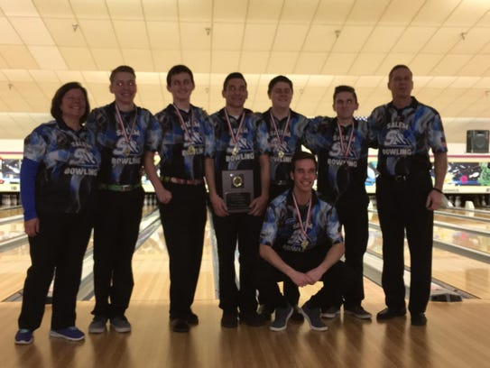 Salem's varsity boys bowling team finished second at