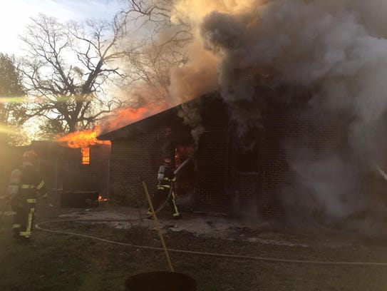 MFD battles early Tuesday fire in west Montgomery.