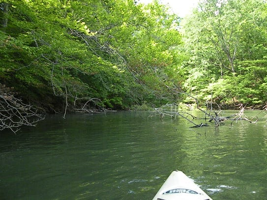 Island F is a mile wide and has numerous inlets, including