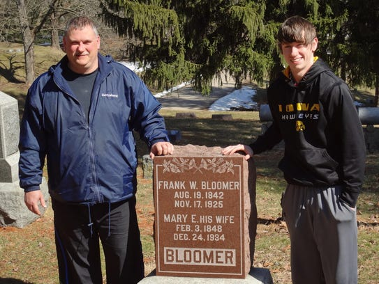 Father and son Mike and Jace Bloomer, shown here in