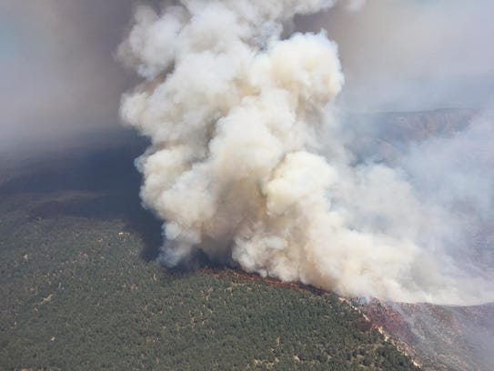 The Highline Fire burned in Tonto National Forest in June 2017.
