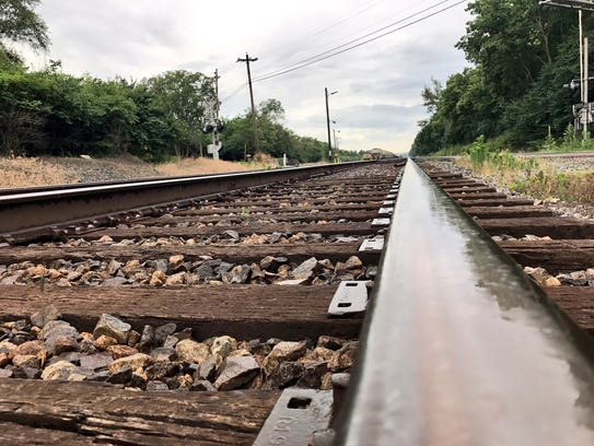 These are train tracks in St. Clair Township near where
