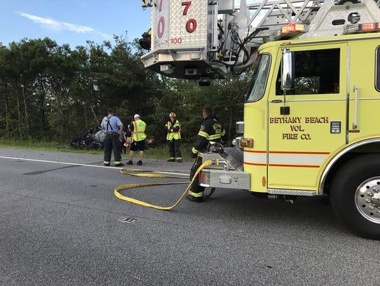 Units from the Bethany Beach Volunteer Fire Company,