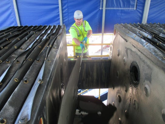 As part of the process to treat the contaminated sediment