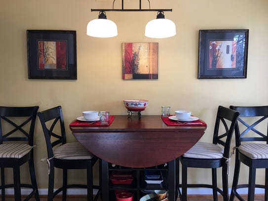 The dining area in Colleen Kilpatrick's Milford home.