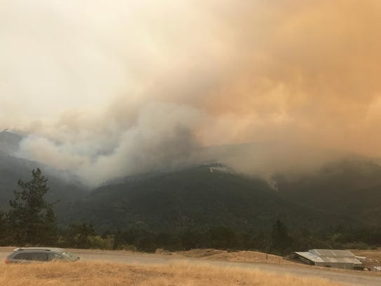 Increased winds resulted in erratic fire behavior Monday